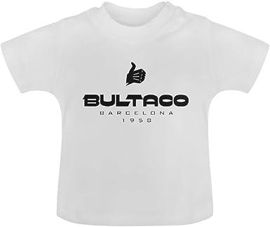 dotion Unisex Bultaco para bebé de color blanco de camiseta de ...