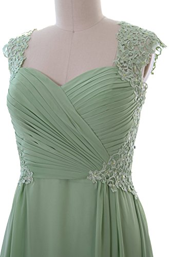 MACloth Women Cap Sleeve Cocktail Dress 2017 Short Wedding Party Formal Gown Gris