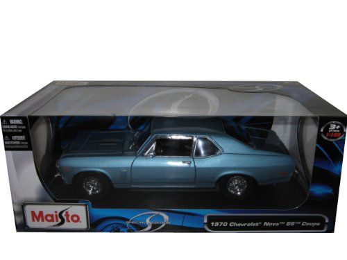 Maisto Special Edition 1:18 1970 Chevrolet Nova SS Coupe Blau