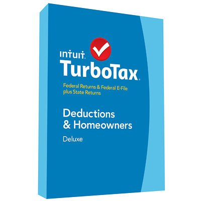 TurboTax Deluxe Federal and State E-File 2014, 1 User