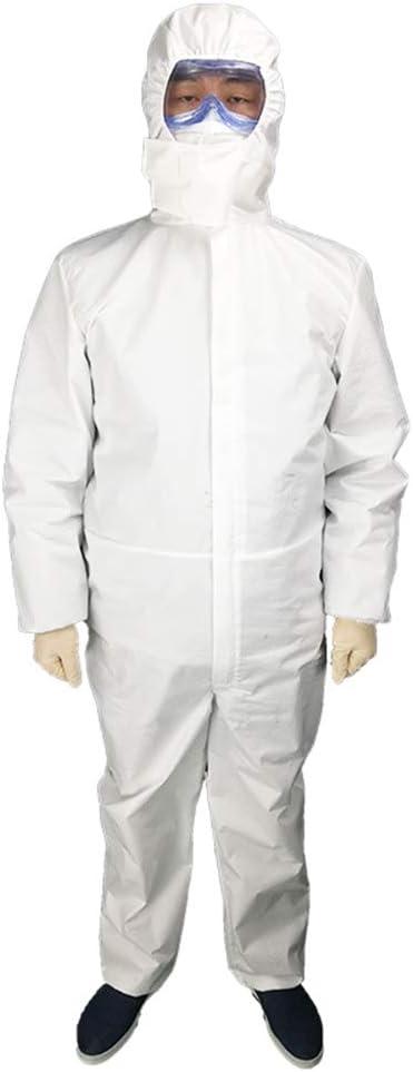 PREMOD Protección Desechables De Papel General De La Caldera Traje Vestimenta De Las Batas Elástico Hood para Laboratorio, Trabajo De Bricolaje, Taller, Trabajo Al Aire Libre