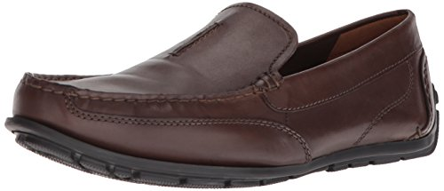 CLARKS Mens Benero Race Driving Style Loafer Dark Brown Leather dEKI3