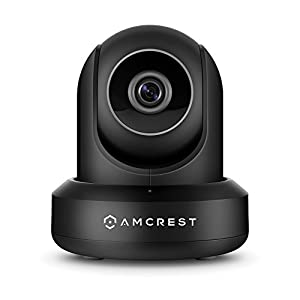 Amcrest Wireless IP Video Security System NV4108 1080p NVR (8CH 1080p/3MP/4MP/5MP) and 4 x 2MP 1080P Amcrest ProHD WiFi Pan/Tilt IP Cameras IP2M-841 (Black) by Amcrest