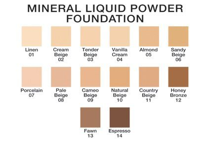 Mineral Liquid Powder Foundation ~Porcelain~