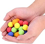 100 Pcs Bullet Ball, Colorful Rounds Soft Elastic Balls Toy Paintball Bullet Balls Refill Pack