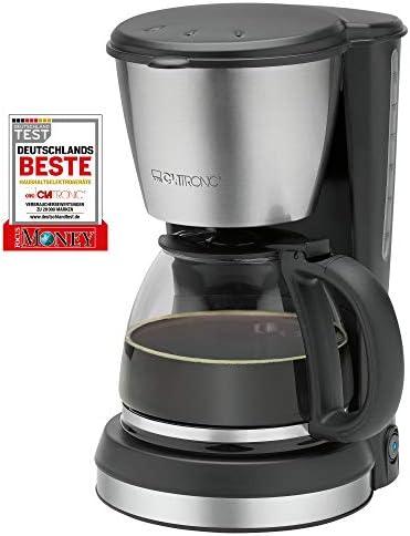 Clatronic KA 3562 Cafetera eléctrica de goteo automática, máquina café de filtro capacidad 12 a 14 tazas, función de mantenedora calor, 900 W, Cups, Acero Inoxidable, Negro: Clatronic: Amazon.es: Hogar