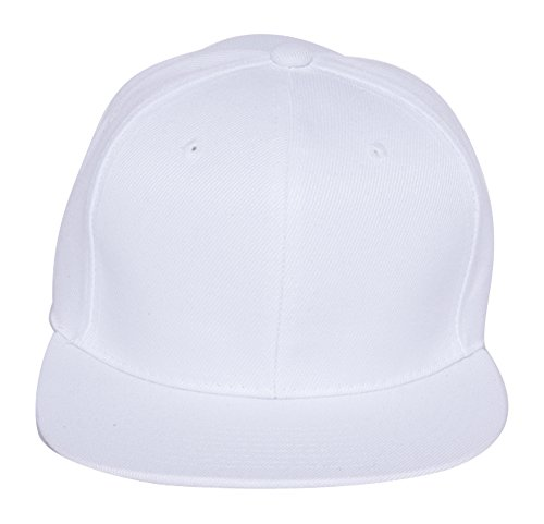 Plain Fitted Flat Bill Hat...