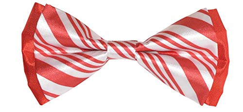 Candy Cane Christmas Bow Tie, 3.5