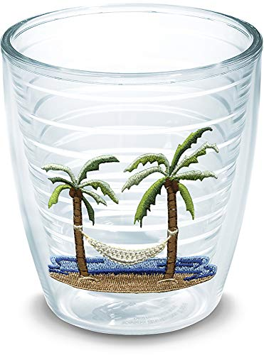 - Tervis 1035970 Palm Tree & Hammock Scene Tumbler with Emblem 12oz, Clear