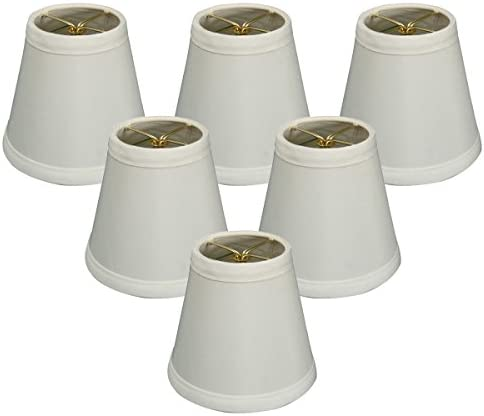 Royal Designs CS-981-5WH-6 6 Pack 5 Hardback Empire Chandelier Lamp Shade, White