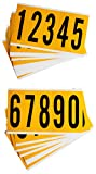 Brady 1560-# KIT Vinyl Numbers in combination Packs for Indoor and Outdoor use, 0 Thru 9, 3-7/8 Character Height, Black/Yellow