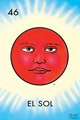 46 El Sol Sun Loteria Card Mexican Bingo Lottery Poster 24x36 ()