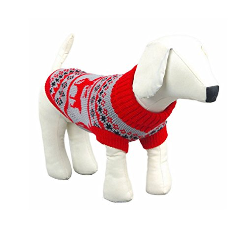 Daisy Duke Costumes Adults (2017 Pet Dog Clothes Winter chihuahua puppy cat for Small Dogs Clothing Christmas Sweater warm dogs pets clothing ropa para perros (XL, Red))