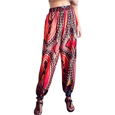 Pervobs Women Pants, Clearance! Women Loose Bohe Harem Festival Hippy High Waist Yoga Beach Pants Trousers by Pervobs