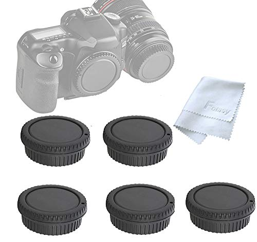 Cover Canon Body - ( 5 Packs) Fotasy Rear Lens Cover Camera Body Cap for Canon EOS DSLR Camera Lenses, Canon EF/ Efs Lens Rear Cap Body Cap