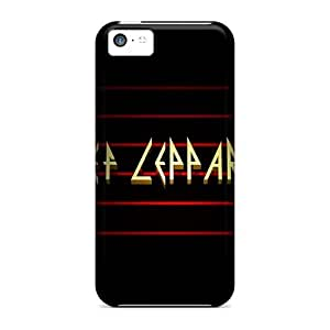 5c Scratch-proof Protection Case Cover For Iphone/ Hot Def Leppard Phone Case