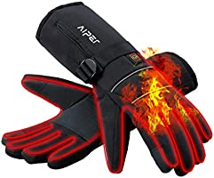 AIPER Heated Gloves for Men and Women, Touchscreen Texting Water-Resistant Rechargeable Battery Powered Thermal Hand...