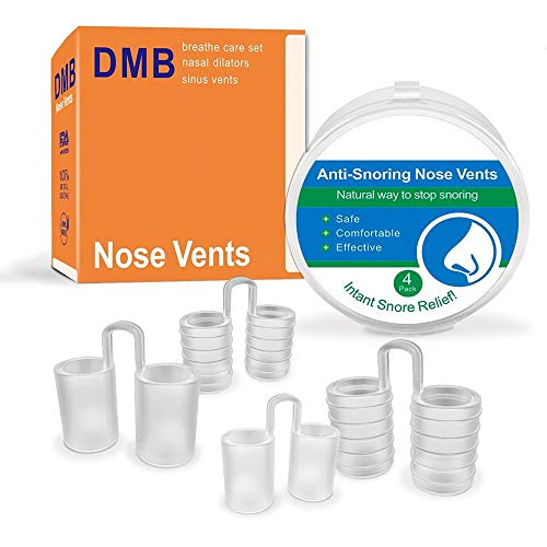 Anti Snoring Devices Nose Vents/Safe Comfortable Nasal Dilators/Easy Breathing and Sleep aids Stop snoring Solution/Snore Stop Remedies Device/Premium Medical Grade Silicone Set of 4 Packs