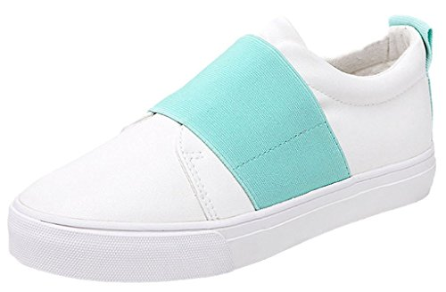 Minetom Mujer Chicas Ocio Estudiantes Lona Zapatos Moda Casual Plataforma Del Holgazán Zapatos Azul