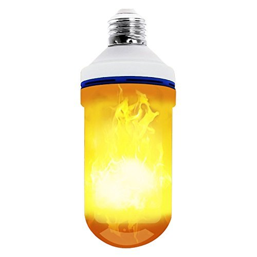 PEMENOL Upside Down Fire Flame Light Bulbs, LED Flickering Flame Effect Light Bulb E26 Decorative Lighting for Indoor and Outdoor Bar/Home/ Backyard Decoration (3 Modes)