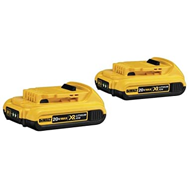 DEWALT DCB203-2 20V Max Compact XR Li-Ion Compact Battery, 2-Pack