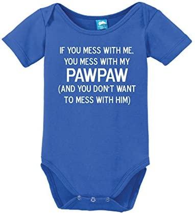 inktastic Youre Going to Be a Pawpaw Blue Long Sleeve Creeper