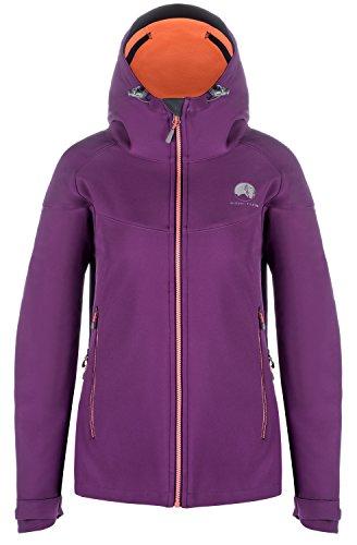Mishmi Takin Misti Water Resistent, Wind Resistent, Fleece-Lined Soft Shell Women's Purple Jacket, Large