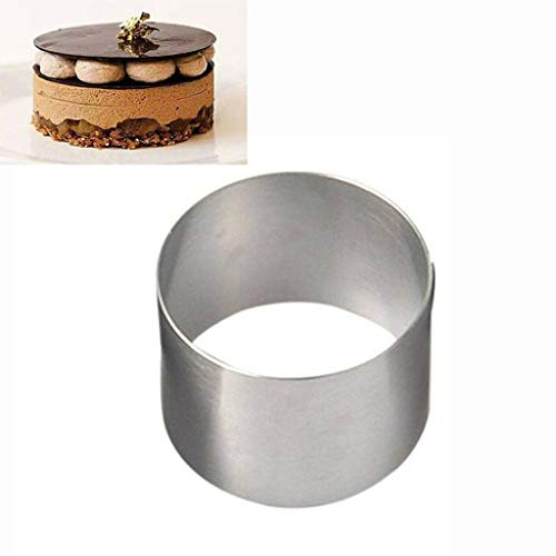 aliveGOT Stainless Steel Mini Round Food Pastry Ring Mousse Cake Mold Round Stainless Steel Form