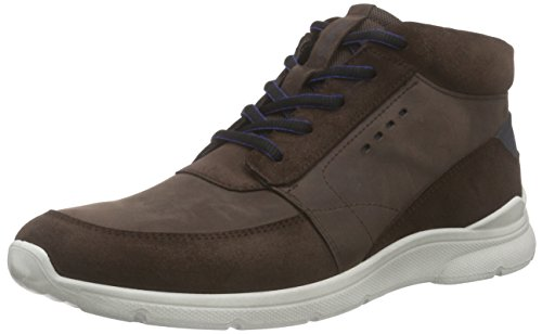 ECCO Men's Irondale Retro High Fashion Sneaker, Mocha/Mocha, 45 EU/11-11.5 M US