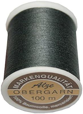 Máquinas de coser Hilo superior algodón 50/3 100 m gris oscuro ...