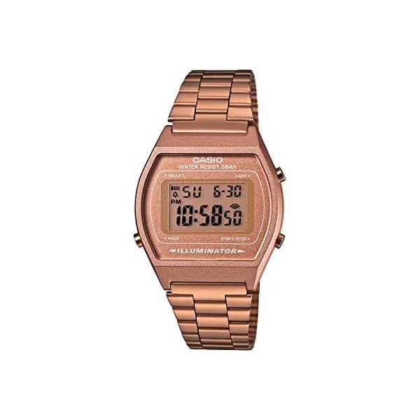 Casio Collection B640WC-5AEF, Reloj Digital Unisex, Acero Inoxidable, Marrón 41YRnZagvAL