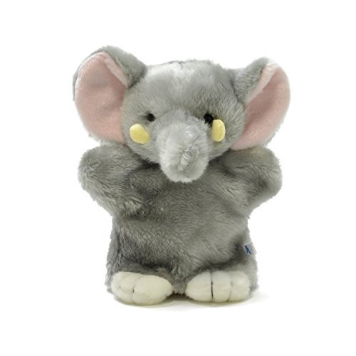 AQUA plush toy Safari hand dance (puppet) elephant 11 00120205 by Aqua (Image #1)