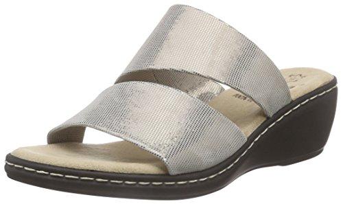 Jana 27215 - Mules Mujer Plateado - Silber (BRONZE METALLI 953)