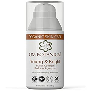 Organic Anti Aging Face Cream, Anti Wrinkle Under Eye Dark Spot Remover, Skin Lightening Natural Facial Moisturizer, Builds Collagen, Reduces Age Spots and Prevents Hyper Pigmentation