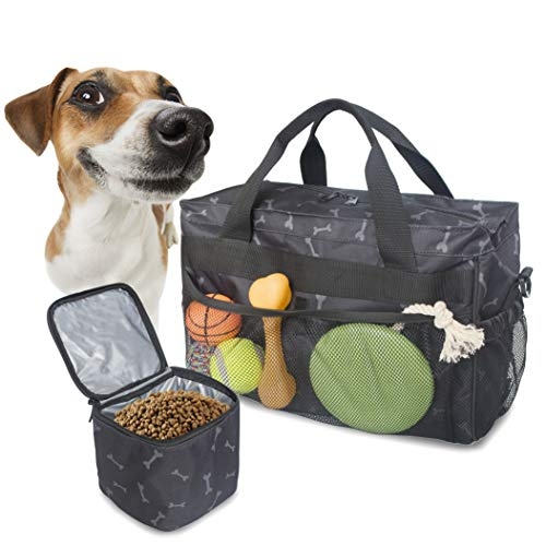 (Mydays Dog Travel BagDog Travel Bag, Pet Luggage Suitcase Weekend Tote Carrier Collapsible Bowl, Pet Luggage Suitcase Weekend Tote Carrier Collapsible Bowl (Black) )