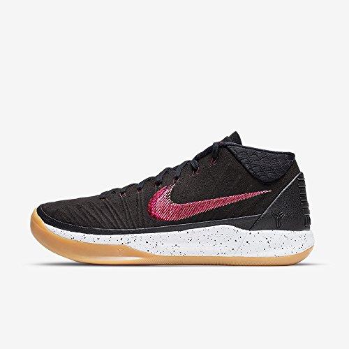 NIKE Kobe A.D. Mid Basketball Shoes Kobe Bryant Black/Sail-Gum Light Brown 922482-006 - 7.5