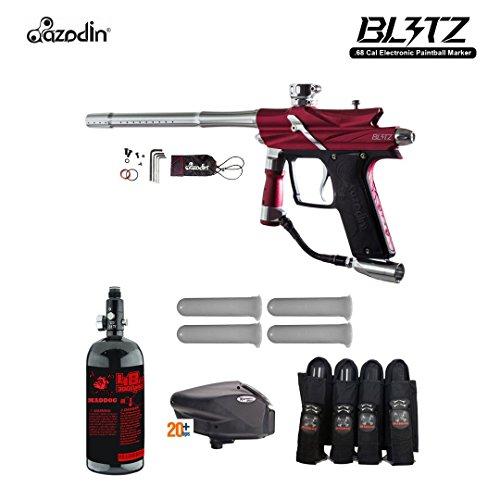 MAddog Azodin Blitz 3 Advanced Paintball Gun Package - Red