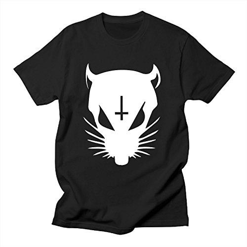 SHI-NI-Mens-Die-Oneto-Ant-Oneto-WOORD-Rat-Black-T-Shirts
