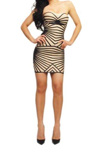 Bebe Bandage Dress (Lumé ''VICTORIA