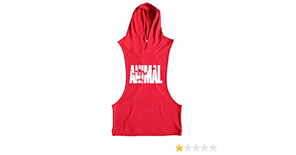 Befox Camisetas de Tirantes con Capucha Casuales para Hombre Ropa Deportiva C/ómoda de Algod/ón con Un Bolsillo Grande