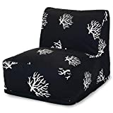 Majestic Home Goods Black Coral Bean Bag Chair Lounger
