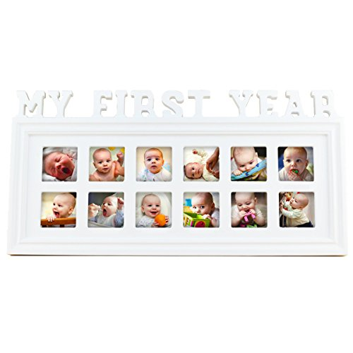 My First Year 12 Month Baby Picture Photo Frame – Capture - Import ...