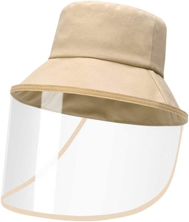 Supermarket Crowded Places Suitable For Subway Hat Safety Protective Anti-virus Adult Anti-fog Protection Fisherman Cap Detachable Sun Protection Cap With Isolation Cover