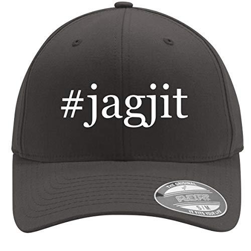 #Jagjit - Adult Men's Hashtag Flexfit Baseball Hat Cap, Dark Grey, Small/Medium