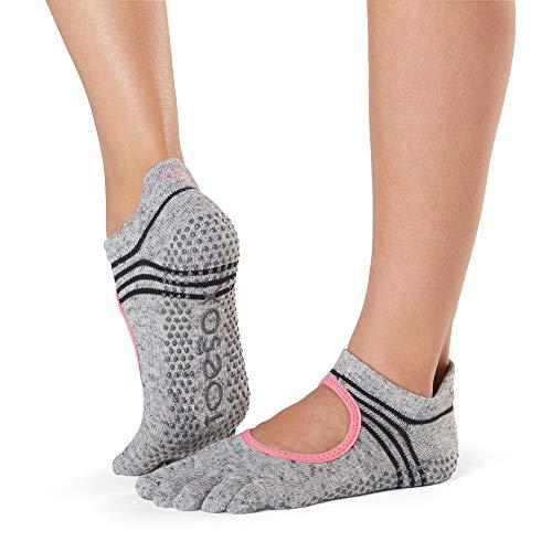 toesox Grip Pilates Barre Socks – Non-Slip Bellarina Full Toe Yoga & Ballet