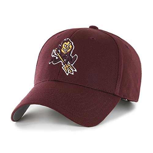Arizona State Sun Devils Visor - OTS NCAA Arizona State Sun Devils All-Star MVP Adjustable Hat, Dark Maroon, One Size