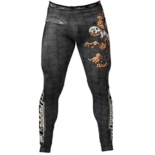 Tatami Fightwear Men's Thinker Monkey MMA BJJ Leggings Spats Black Large