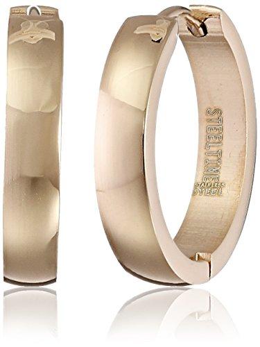 Stainless Steel Rose Gold Huggie Earrings