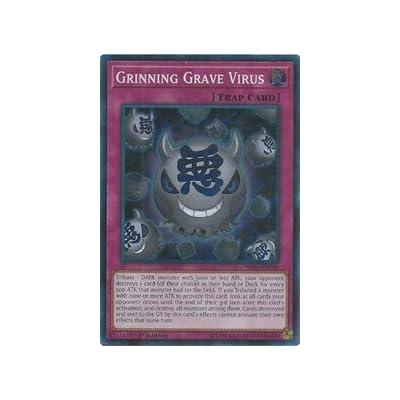 Grinning Grave Virus - SR06-EN030 - Super Rare - 1st Edition: Toys & Games