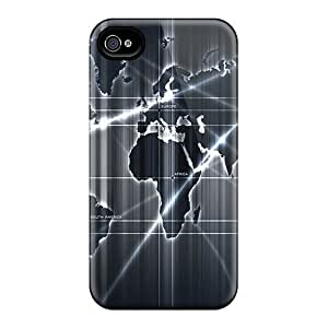 New Design Shatterproof Pfz23078xTaj Cases For Iphone 6 (abstract Map)